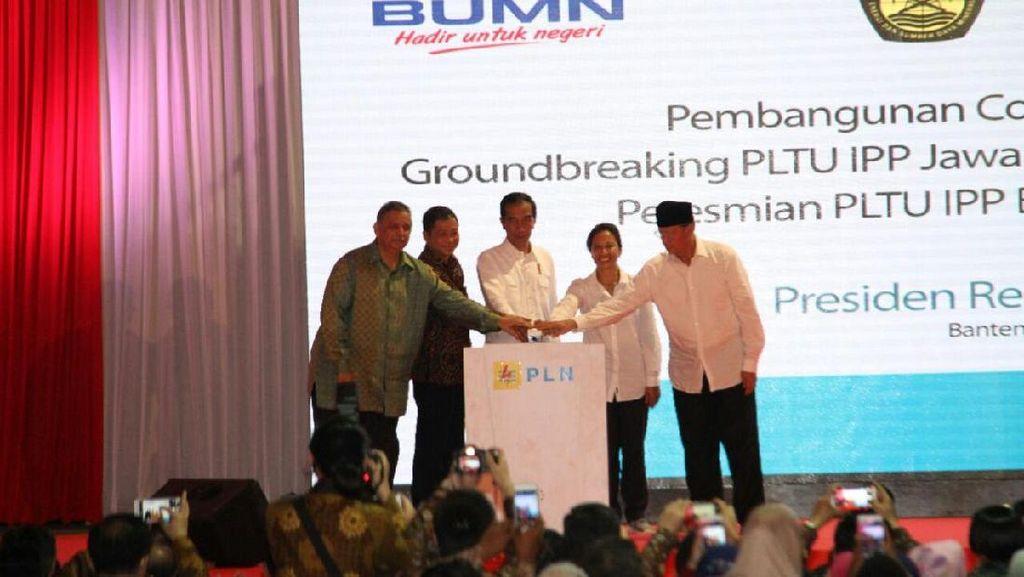 Jokowi Resmikan Pembangkit Listrik di Banten