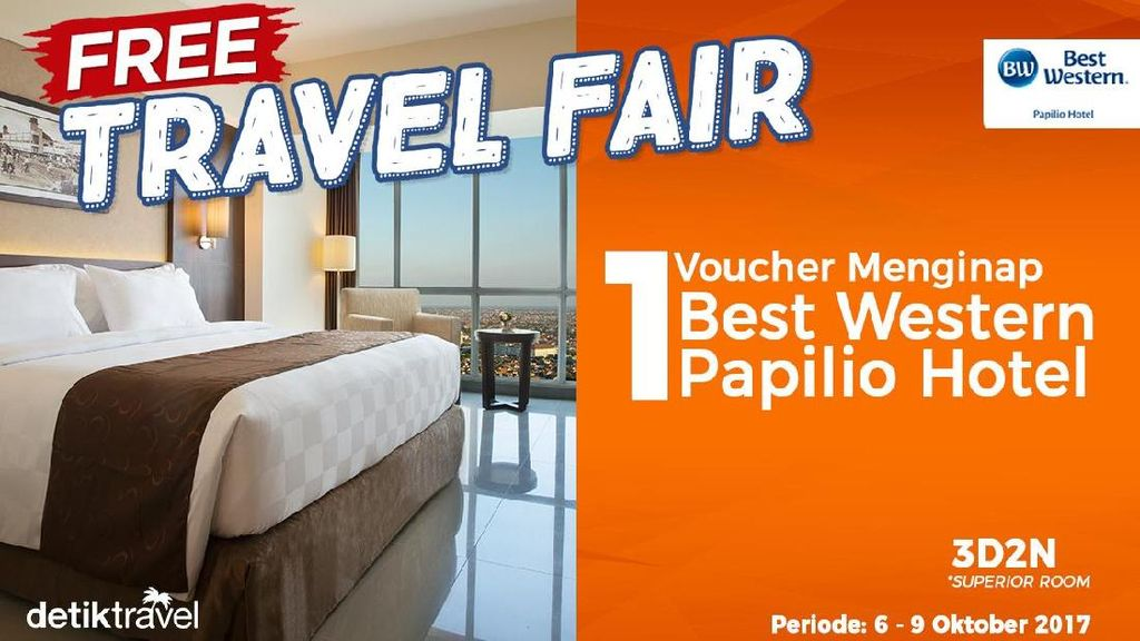 Free Travel Fair: Voucher Bermalam di Best Western Papilio Hotel