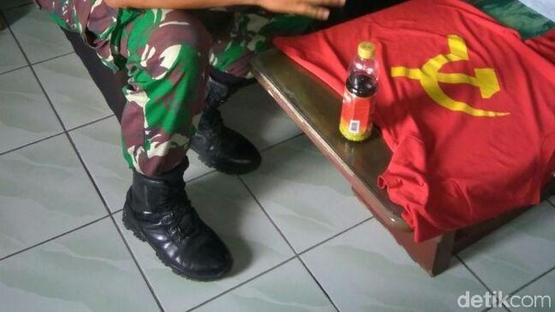 Ke Bengkel Pakai Kaos Palu Arit, Pemuda di Wonosobo Ini Diciduk TNI