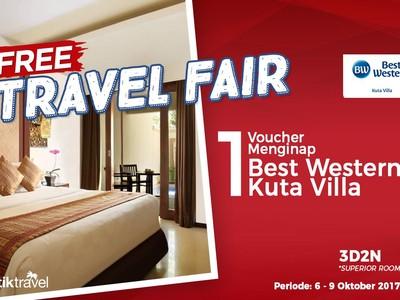 Free Travel Fair: Tidur Gratis di Best Western Kuta Villa