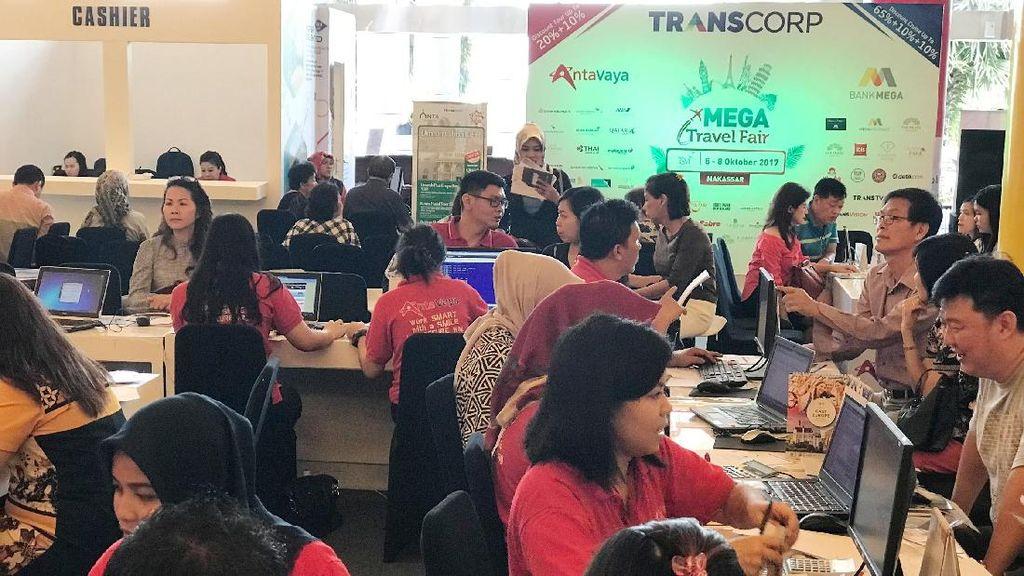 Paket Tur Eropa Jadi Favorit di Hari Pertama Mega Travel Fair Makassar