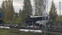 Kereta Api Tabrak Bus di Rusia, Belasan Orang Tewas
