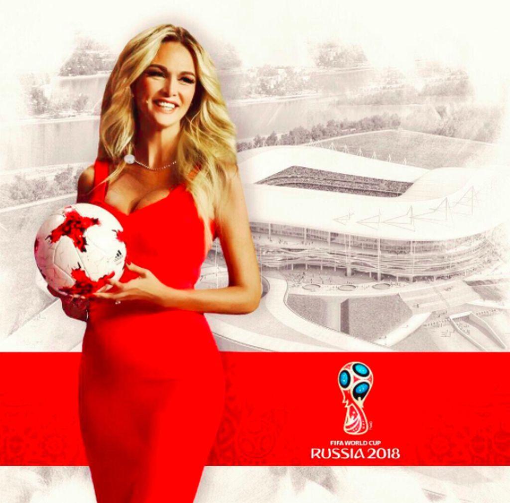 Namanya Victoria Petrovna Lopyreva. Dia ditunjuk sebagai ambassador resmi Piala Dunia 2018. Foto: instagram