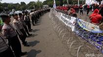 Begini Pengamanan Demo Buruh di Istana