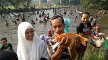 Serunya Tangkap Ikan untuk Syukuri Panen Raya di Mojokerto