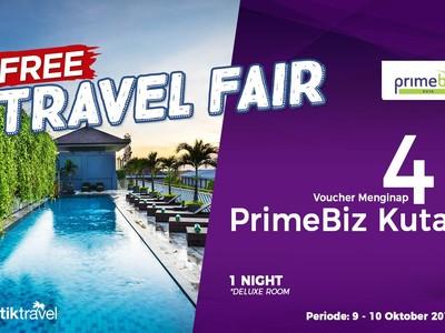 #FreeTravelFair : Bermalam Gratis di PrimeBiz Kuta