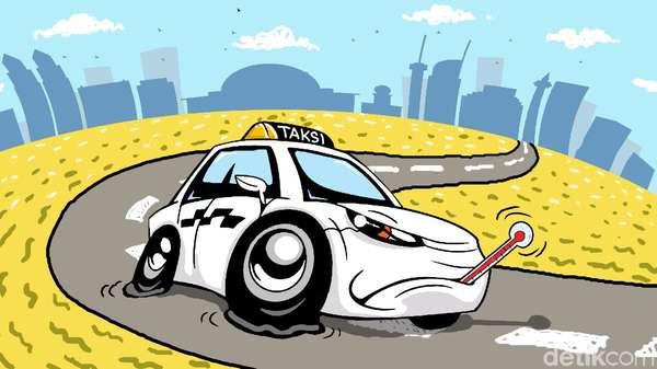 Taksi Online Wajib Pasang Stiker Identitas