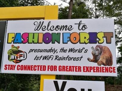 Hutan Paling Kekinian, Dilengkapi dengan WiFi