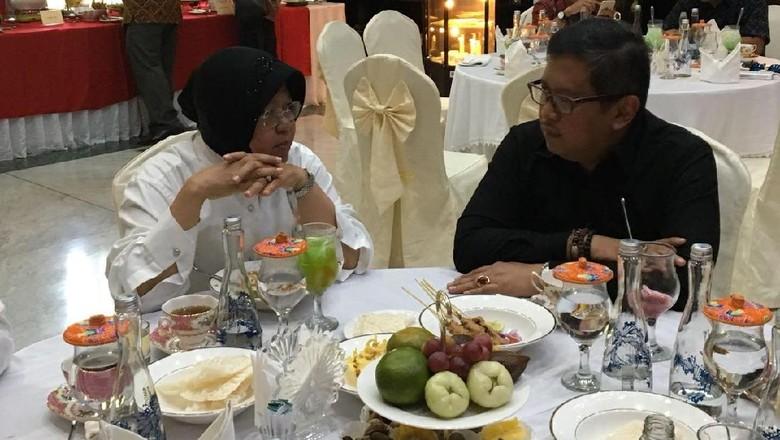 Hasto Temui Risma Perintah Megawati, Arahan untuk Pilgub Jatim?