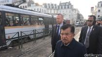 Sebelum Bertemu Komisi Eropa, JK Tinjau Fasilitas LRT di Belgia