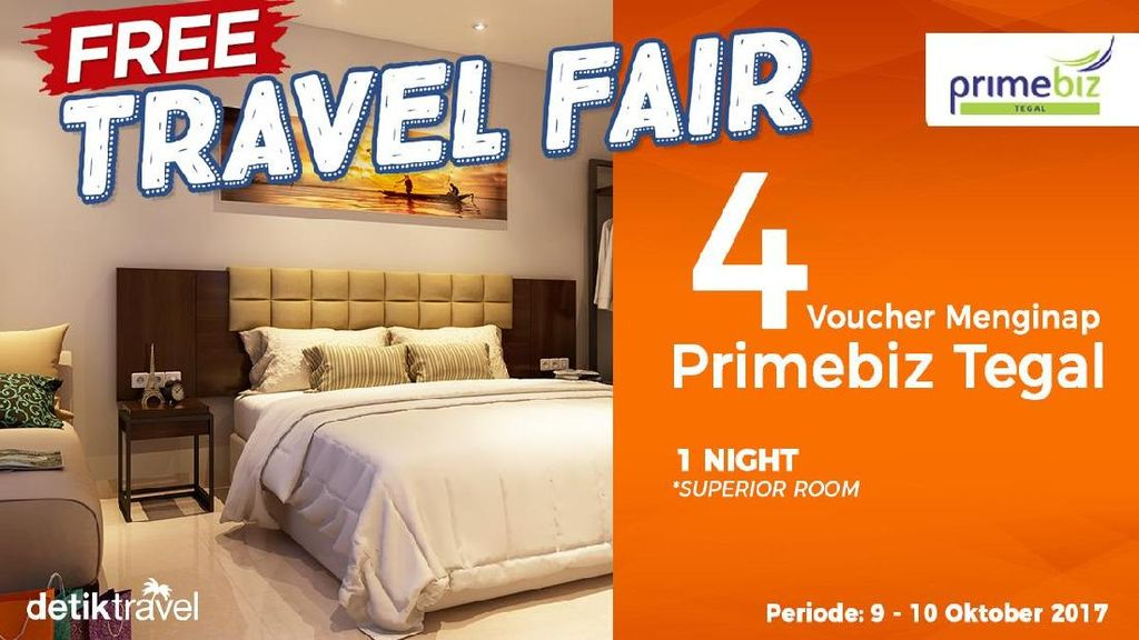 #FreeTravelFair : Voucher Gratis Menginap di PrimeBiz Tegal