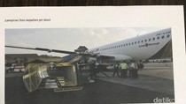 Begini Kronologi Tangga Pesawat Roboh Terhempas Jet Blast di Semarang
