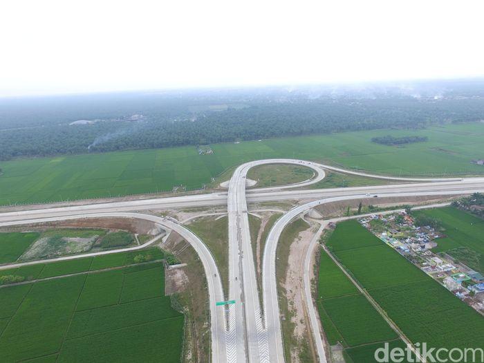 Panjang tol Medan-Kualanamu-Tebing Tinggi yang akan diresmikan mencapai 41,65 km dari Parbarakan hingga Sei Rampah. Pool/HK
