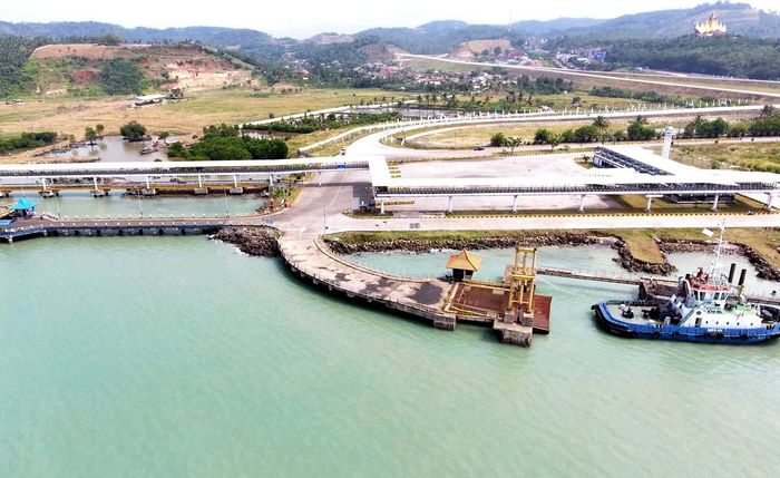 Jalan tol Bakauheni-Terbanggi Besar yang siap diresmikan adalah Paket 1 dan Paket 2 yang menyambungkan Pelabuhan Bakauheni hingga Lematang. (Hutama Karya).