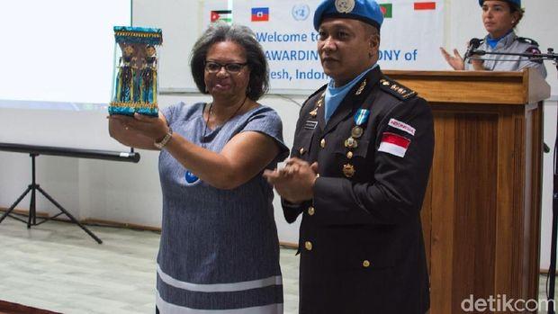 13 Anggota Polri di MINUSTAH dapat Penghargaan UN Medal