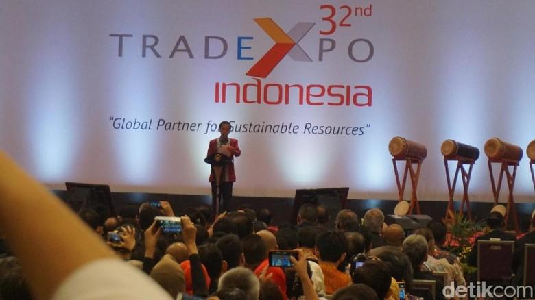 Buka Trade Expo 2017, Jokowi Pamer Daya Saing RI Naik ke Posisi 36