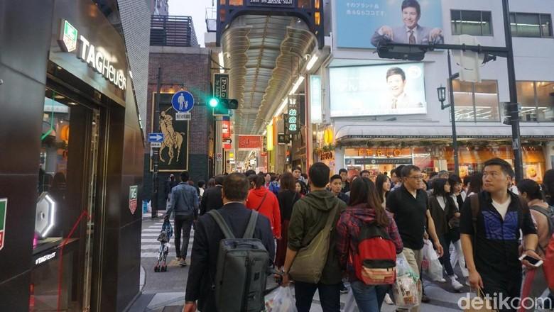 Wisata belanja di Shinsaibashi-suji, Osaka Jepang (Wahyu/detikTravel)