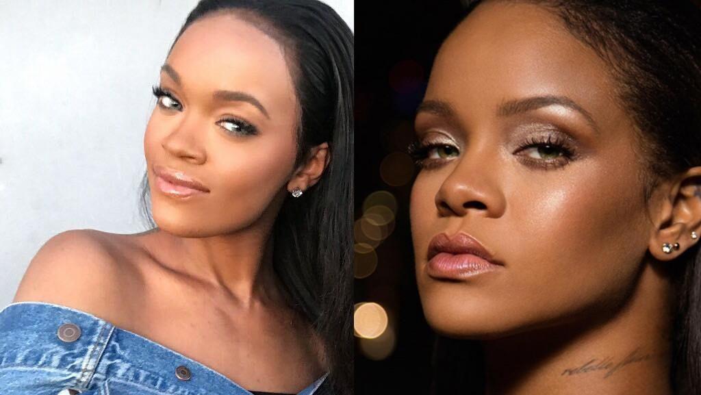 Foto: Wanita yang Plek-plekan Mirip Rihanna, Kamu Akan Sulit Bedakan