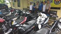 66 Pelaku Curanmor Diciduk, 109 Kendaraan Disita di Aceh