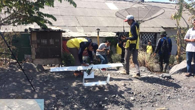 Drone BNPB Jatuh, Perekaman Visual Kawah G Agung Tetap Dilanjutkan