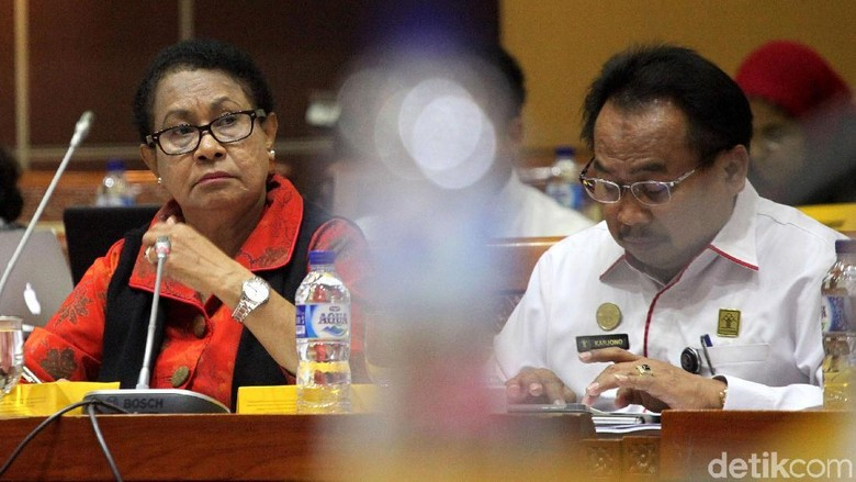Menteri PPPA Yohana Yembise Raker dengan Komisi I DPR