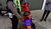 Lagi, Pemotor Pakai Pelat Thailand Diciduk Polisi di Belitung