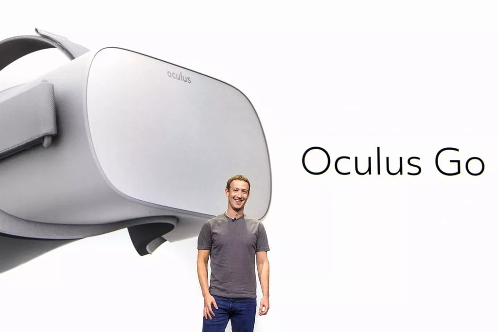 Oculus Go pertama kali diumumkan oleh CEO Facebook Mark Zuckerberg di event Oculus Connect 4 bulan Oktober 2017. Foto: internet