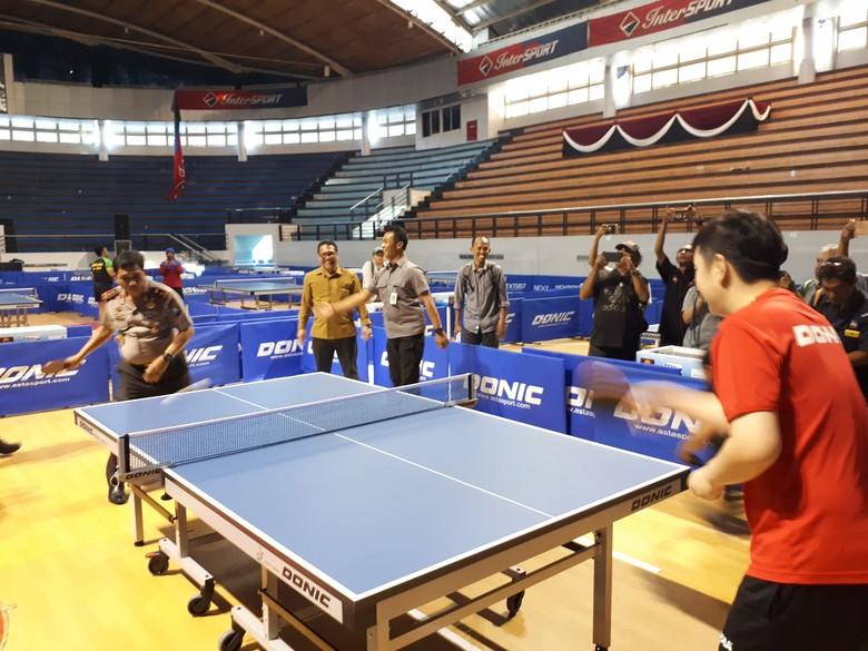 Kapolda Jatim Gelar Kejuaraan Tenis Meja Kapolda Cup 2017