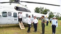 Naik Helikopter, Jokowi ke Musi Banyuasin untuk Peremajaan Sawit