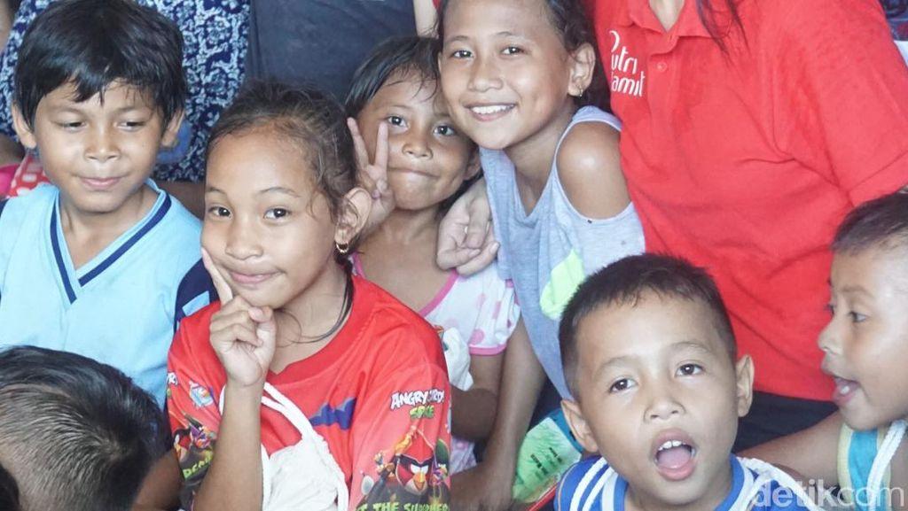 Inspiratif, Noni Cantik Manado Ini Sukarela Mengajar Anak Pedagang Pasar