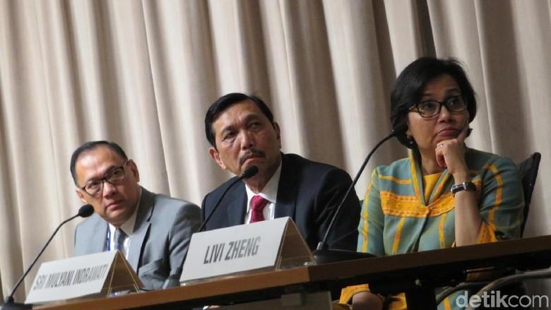 Luhut, Sri Mulyani dan Agus Marto Promosi IMF-WB 2018 di RI