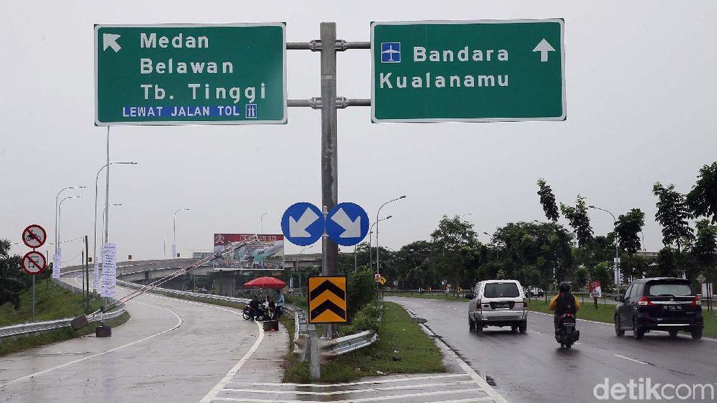 Foto: Menjajal Tol Kualanamu-Sei Rampah yang Akan Diresmikan Jokowi