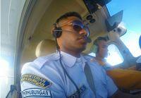 Salah satu siswa sekolah pilot asal Papua
