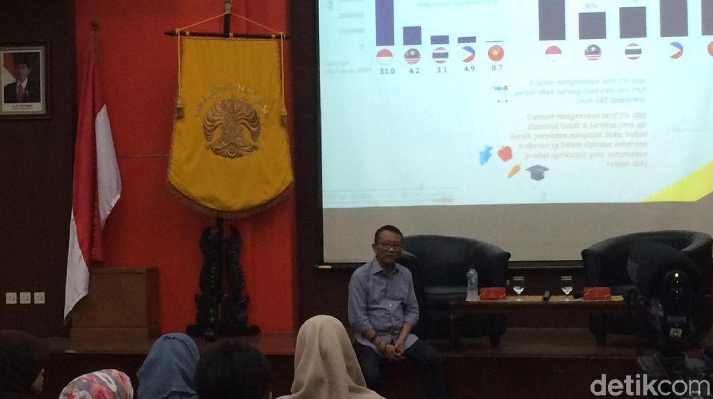 Dirjen Pajak Beri Kuliah Soal Penerimaan Pajak ke Ratusan Mahasiswa UI