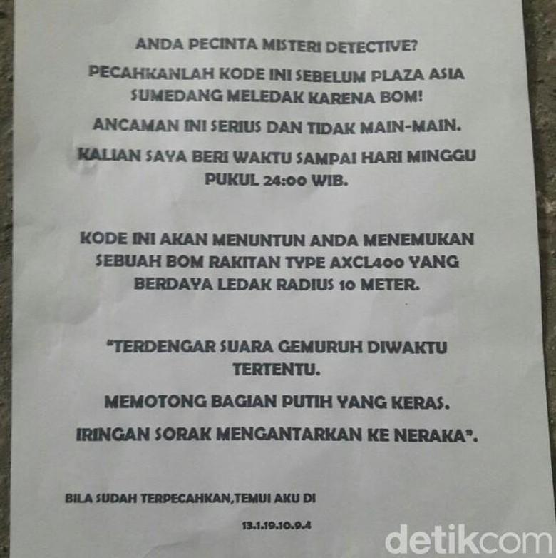 Kode Misterius ala Detective Conan di Surat Teror Bom Sumedang