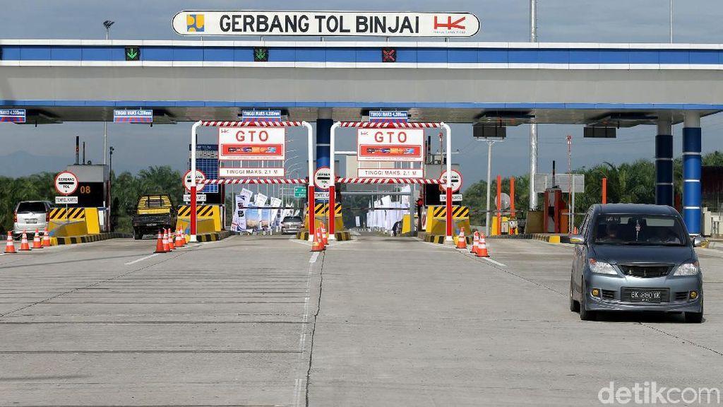 Menjajal Tol Medan-Binjai yang Baru Diresmikan Jokowi
