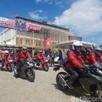 Geber CBR250RR Menuju Lebaran Pencinta Honda