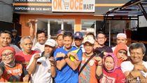 Lari Pagi dari Rumah, Sandi Resmikan OK OCE Mart di Warung Buncit