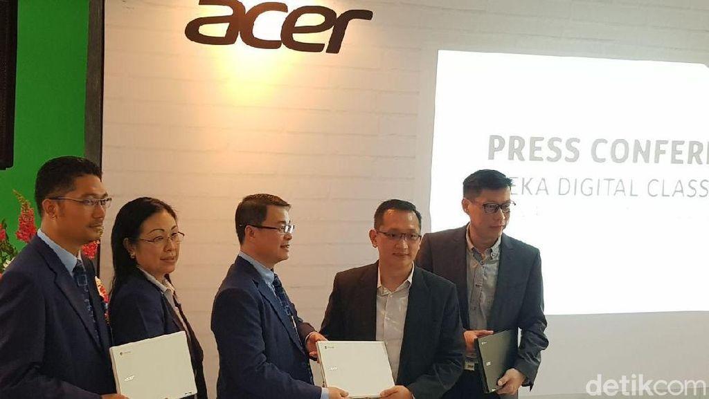 Ambisi Acer Bareng Intel & Google Wujudkan Kelas Digital di Indonesia