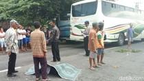 Gagal Salip Truk, BeAT Ditabrak Bus, Satu Pelajar Tewas