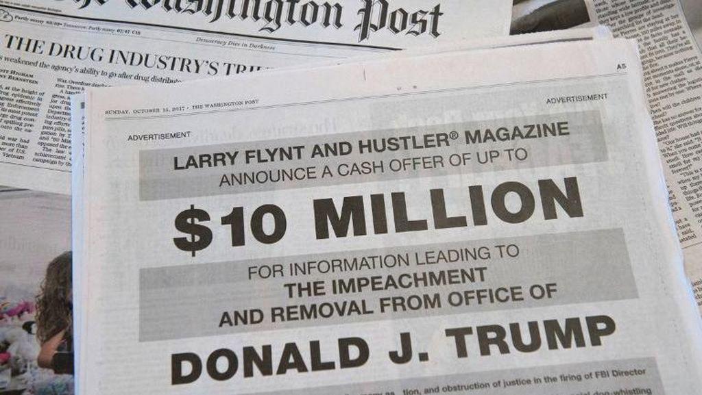Begini Iklan Bos Majalah Porno yang Minta Info Soal Makzulkan Trump