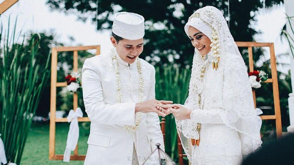 Foto: Inspirasi Hijab Pengantin Berkebaya dari Pernikahan Selebriti