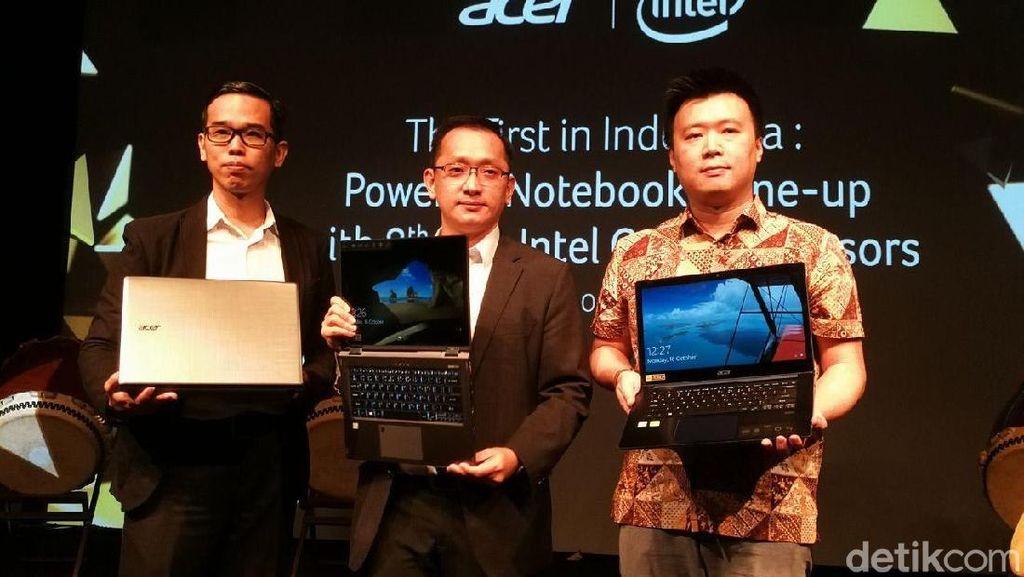 Acer Rilis Laptop Pertama dengan Intel Core Generasi ke-8