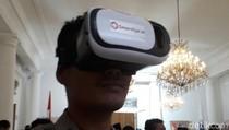 Serunya Nonton Sertijab Anies-Sandi Lewat Virtual Reality