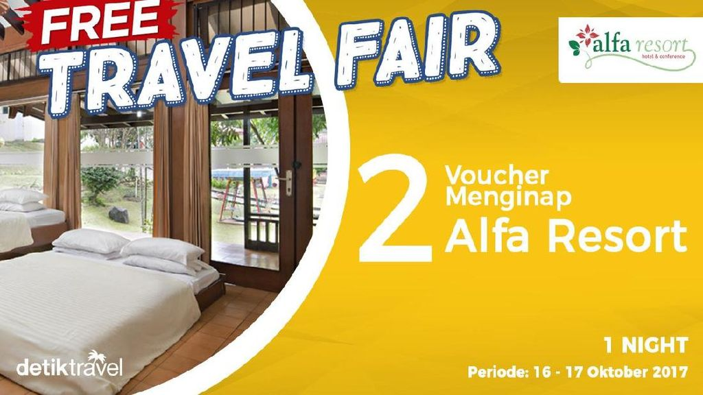 #FreeTravelFair : Voucher Bermalam Alfa Resort di Puncak