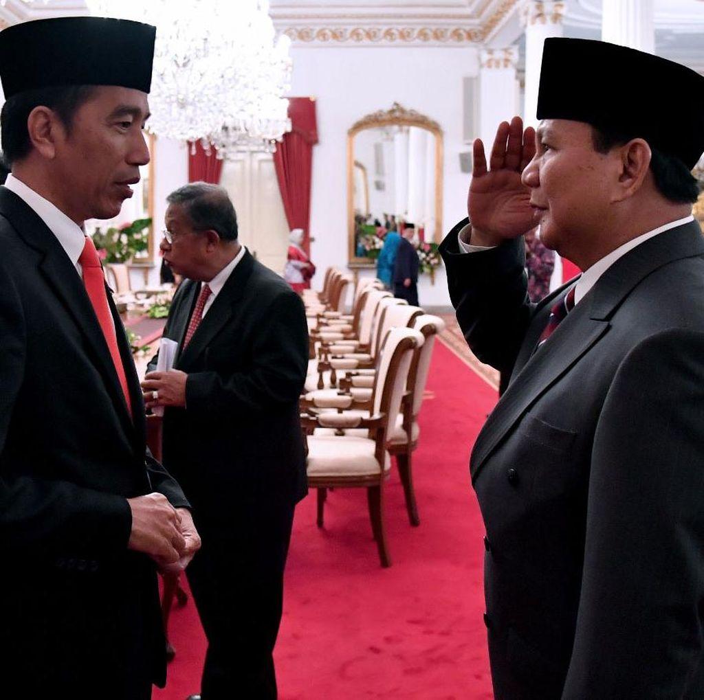 Soal 3 Tahun Jokowi, Prabowo: Saya Tak Berani Menilai