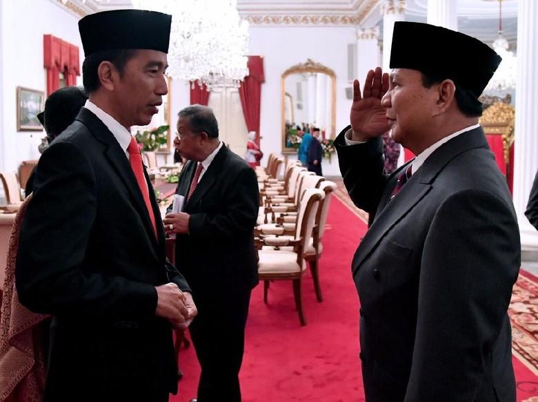 Survei Populi: Elektabilitas Jokowi 49,4%, Prabowo 21,7%