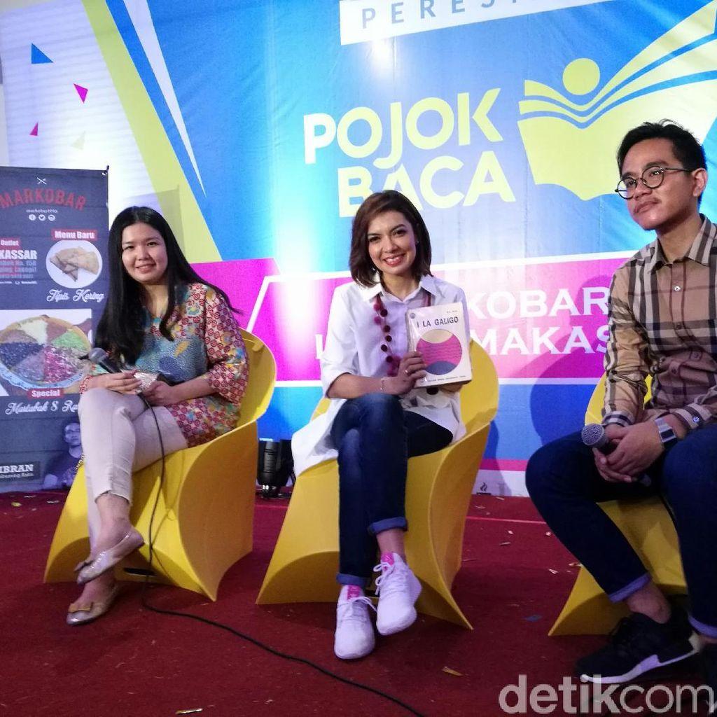 Gibran Rakabuming dan Najwa Shihab Resmikan Pojok Baca di Makassar