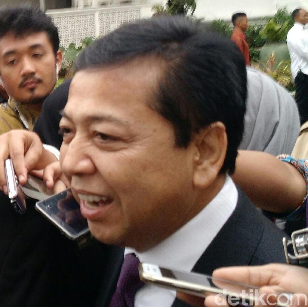 Setya Novanto Kembali Absen di Sidang Andi Narogong
