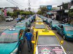 Tolak Angkutan Online, Becak, Angkudes dan Taksi Demo di Purwokerto